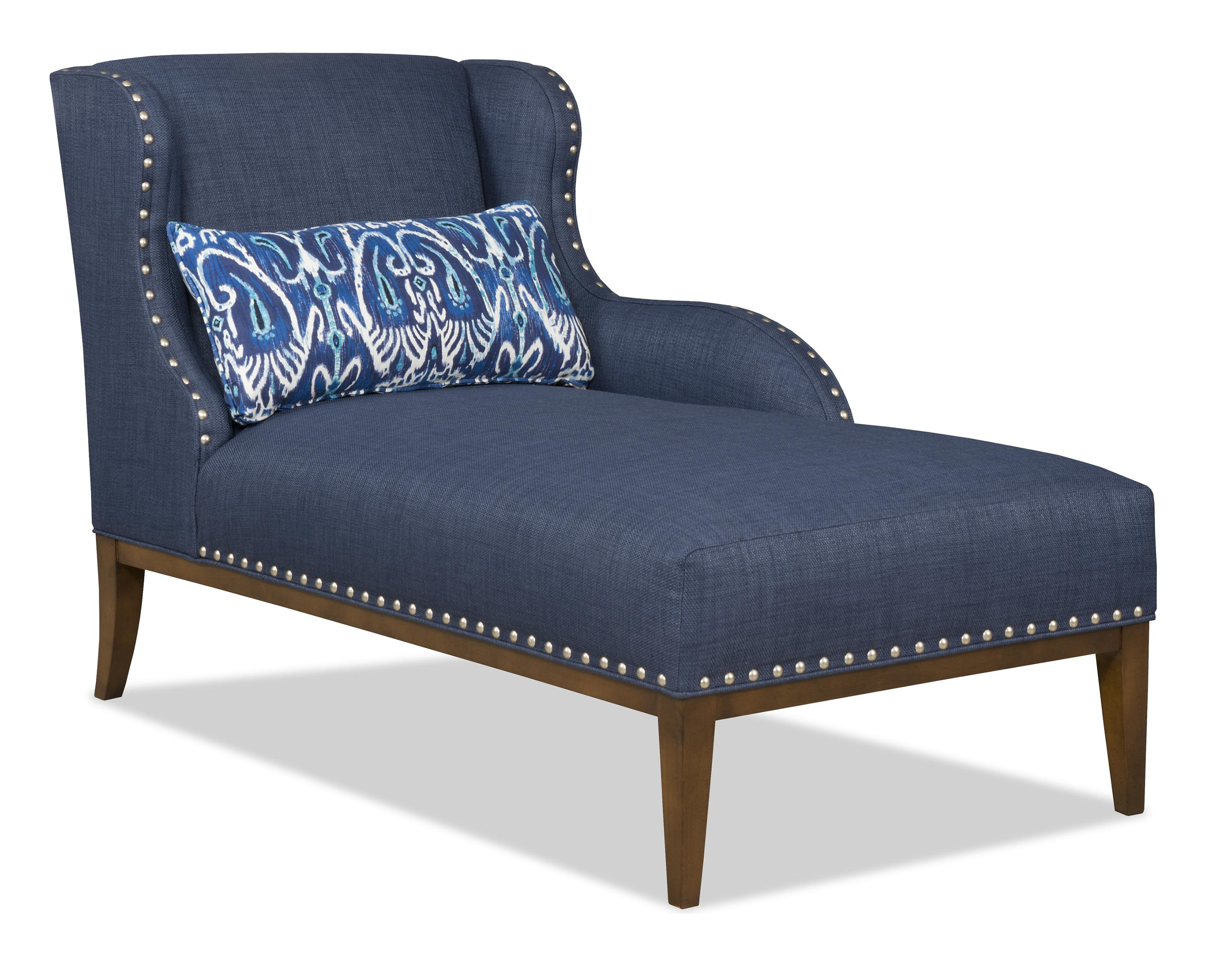 Sam moore cosette 6531 transitional raf one arm chaise for 2 arm pressback chaise