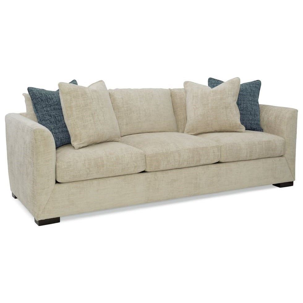 Sam Moore Dalton Casual Sofa With Tall Tapered Arms