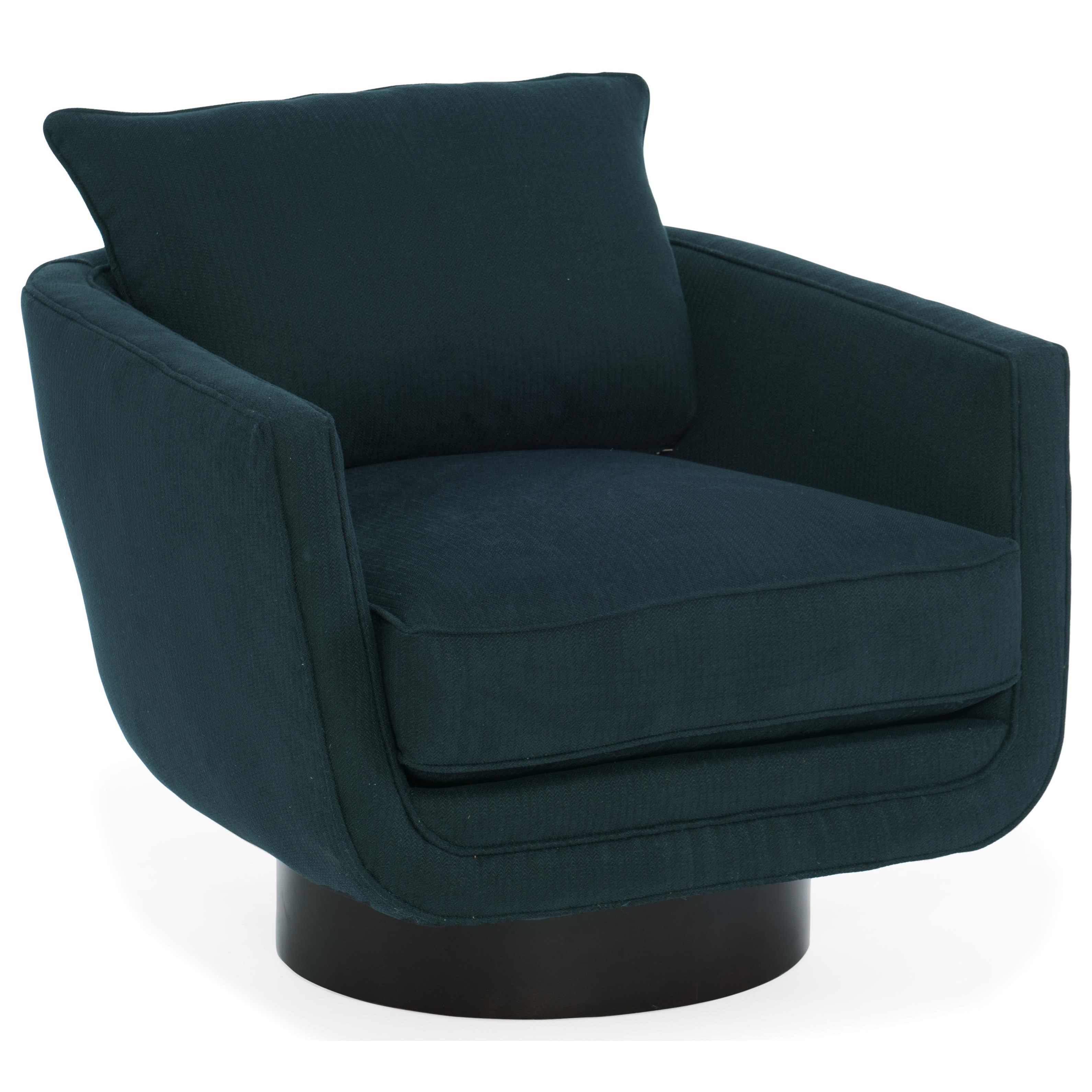 Sam Moore Easton Mid Century Modern Swivel Chair Belfort Furniture