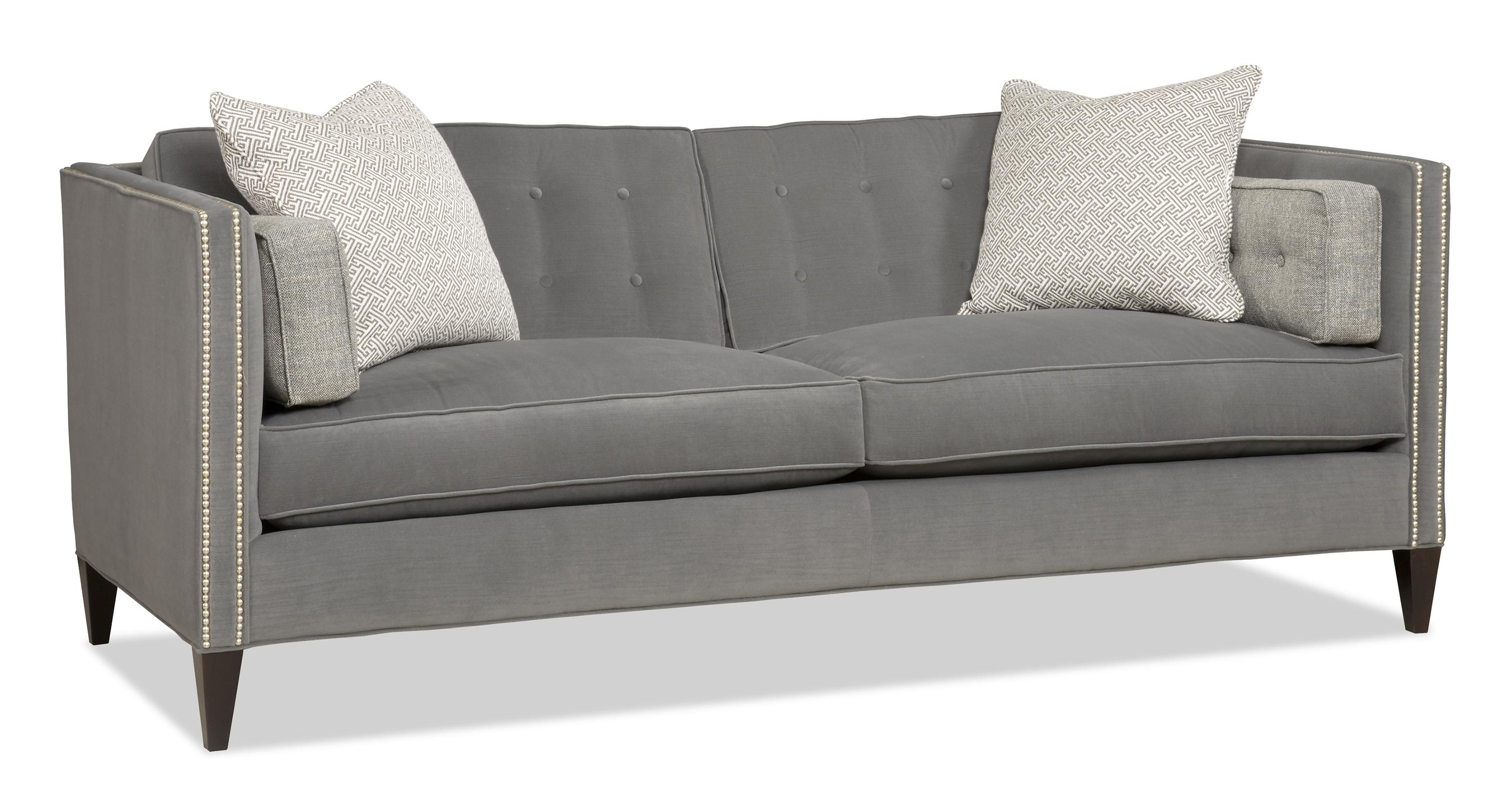 Sam Moore Eaton Contemporary Two Over Two Sofa with Nailhead Trim