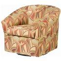 Sam Moore Edgar Upholstered Swivel Chairs - Item Number: 1352-51-2562