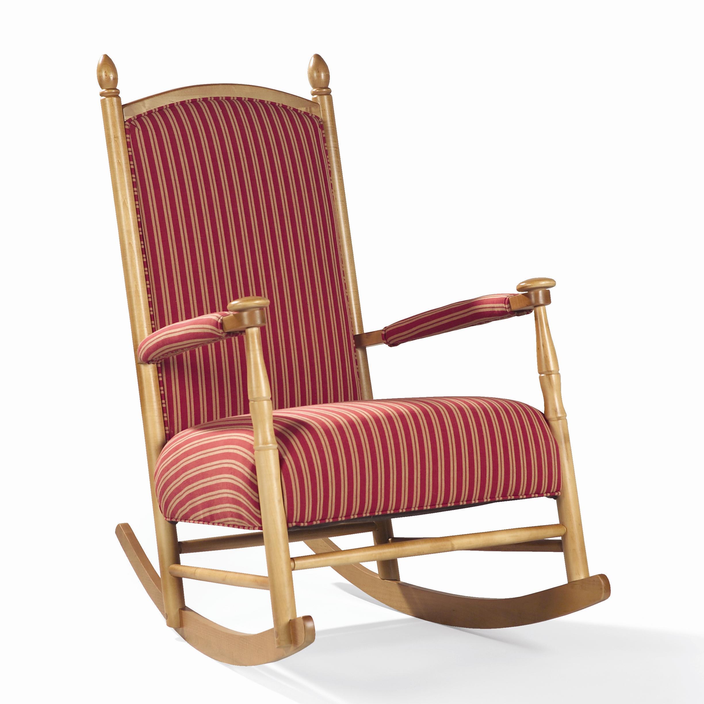 Sam Moore Lancaster Upholstered Wooden Shaker Rocker AHFA