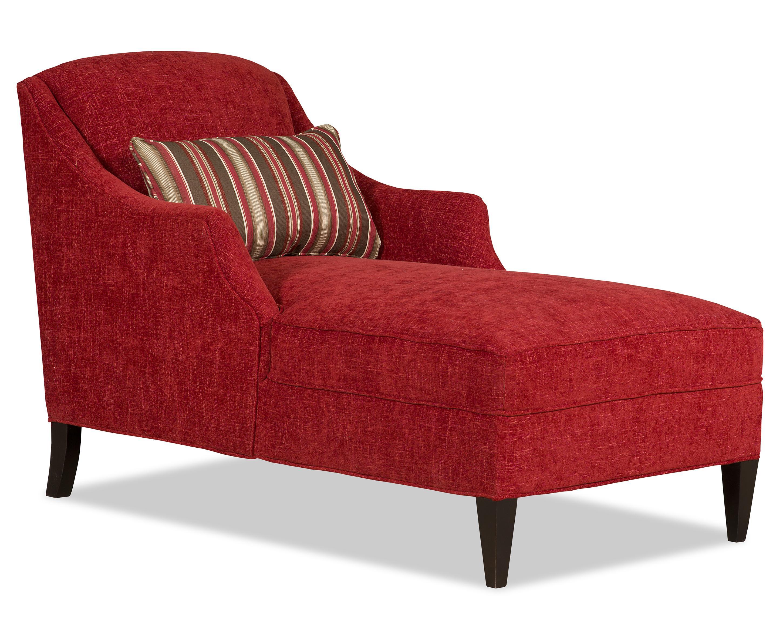 Sam Moore Lark Chaise  - Item Number: 6754-11-2266 Crimson