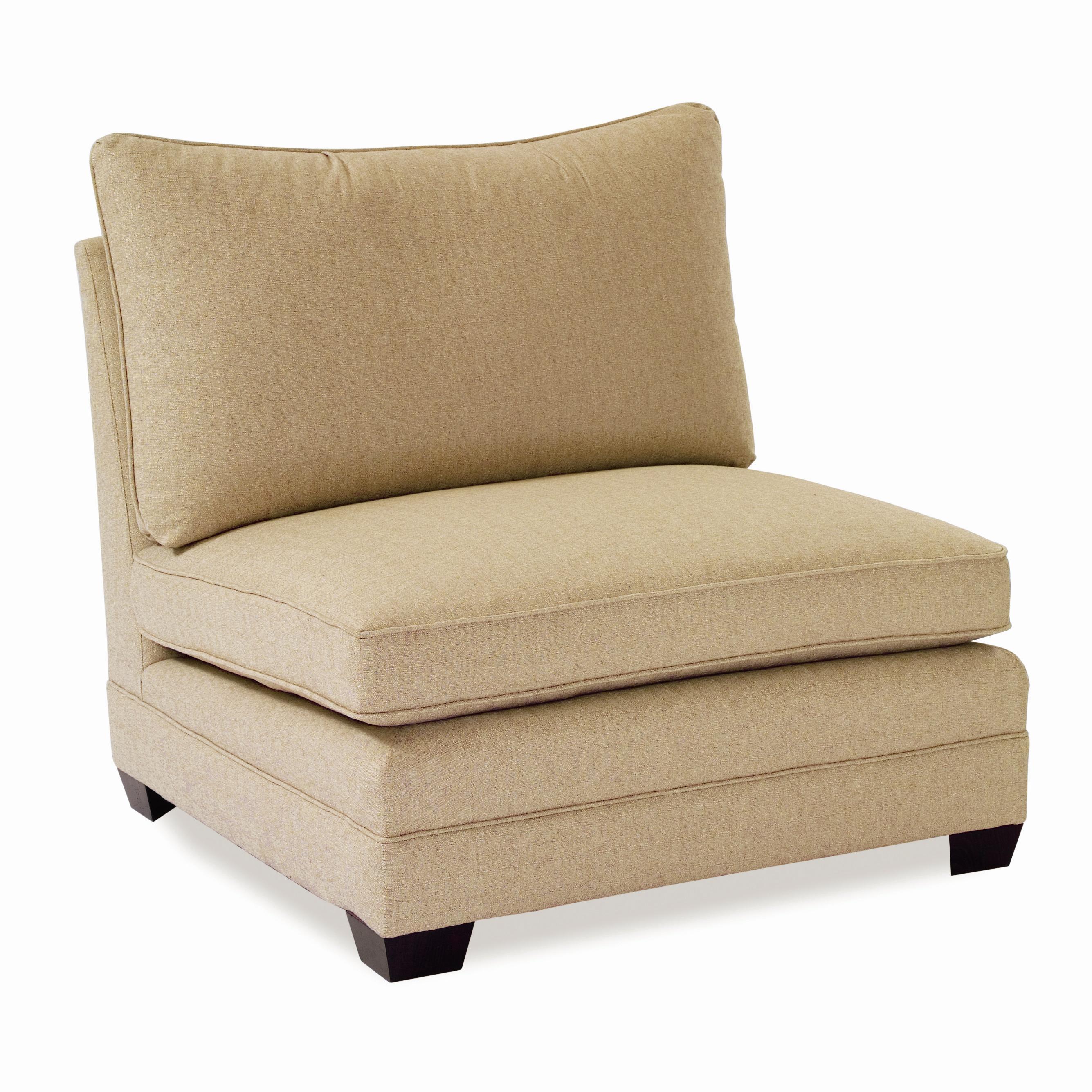 Sam Moore Margo Large Armless Chair - AHFA - Sectional Modular Piece ...