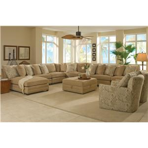 Sam Moore Margo 8 Pc Sectional Sofa w/ LAF Chaise