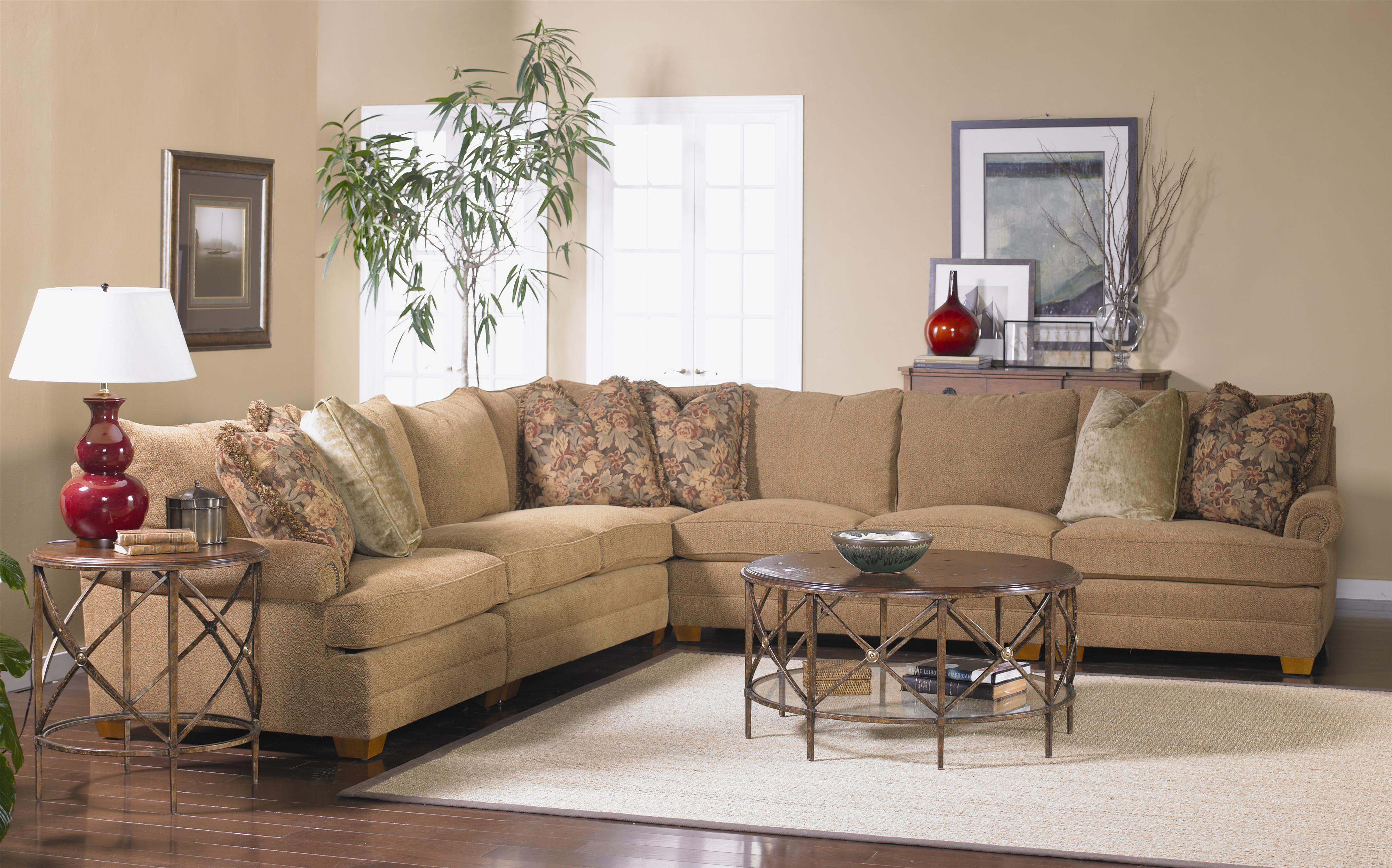 Sam Moore Mason Sectional Sofa With Low Rolled Arms Howell