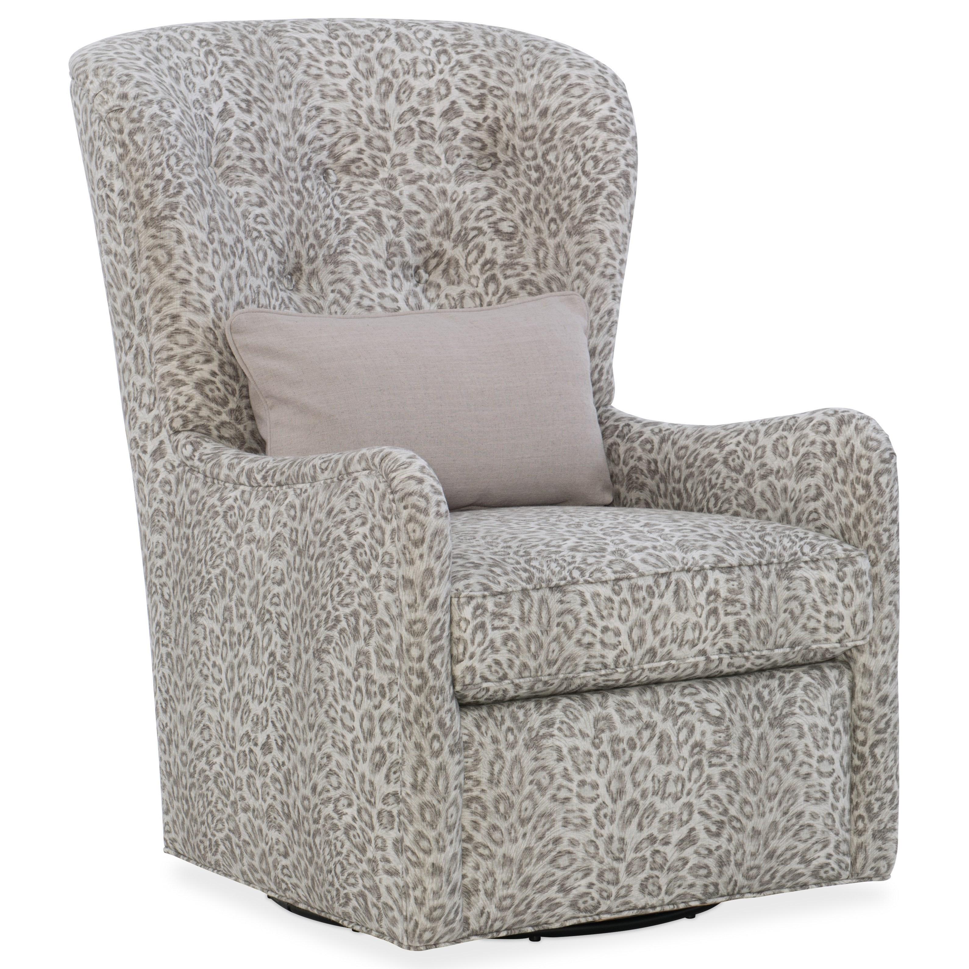 Sam Moore Mavis Transitional Tufted Back Swivel Chair