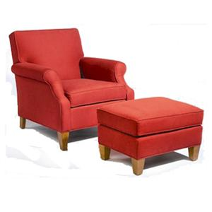 Sam Moore Mercury Upholstered Chair and Ottoman