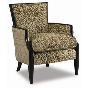Sam Moore Nadia  Upholstered Exposed Wood Chair