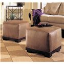 Sam Moore Porter  Contemporary Ottoman - Shown with Coordinating Sofa