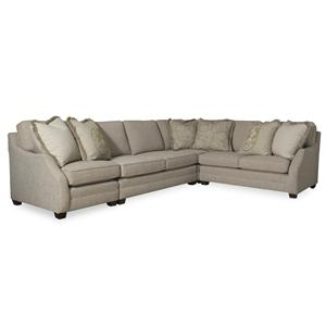 Sam Moore Rita 3 Piece Sectional Sofa w/ RAF Sofa Return