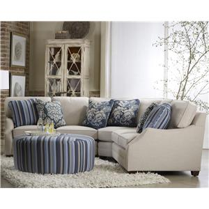 Sam Moore Rita Three Piece Sectional Sofa