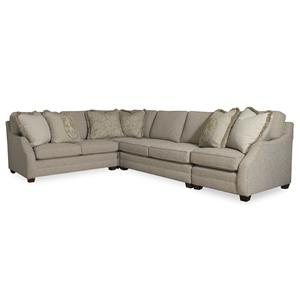 Sam Moore Rita 3 Piece Sectional Sofa w/ LAF Sofa Return