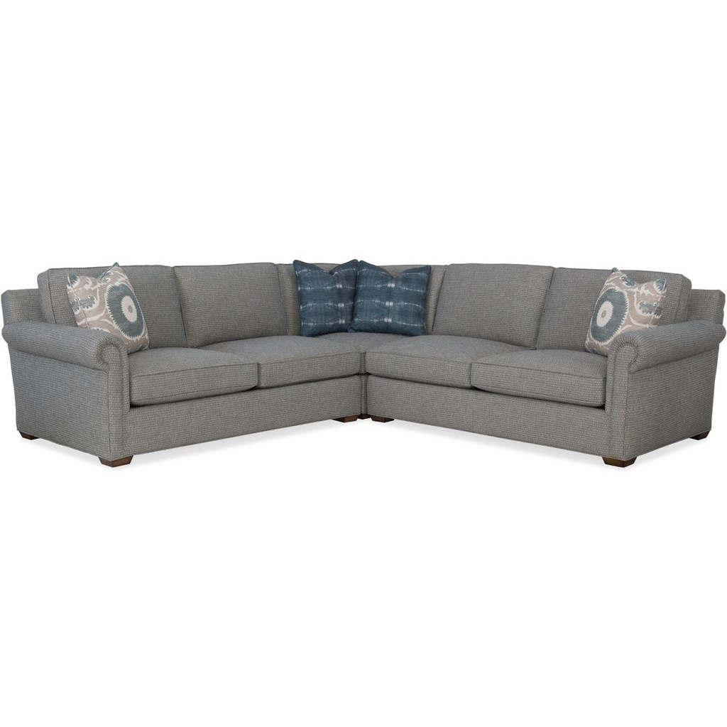 Sam Moore Sadie Transitional Sectional Sofa With Four Accent Pillows Belfort Furniture Sectional Sofas