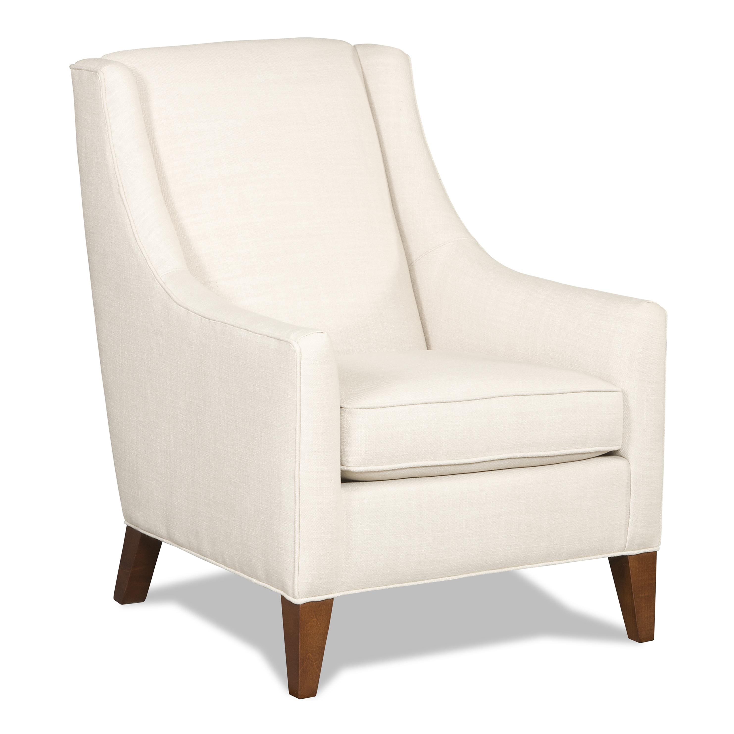 Sam Moore Sheridan Contemporary Club Chair With Exposed