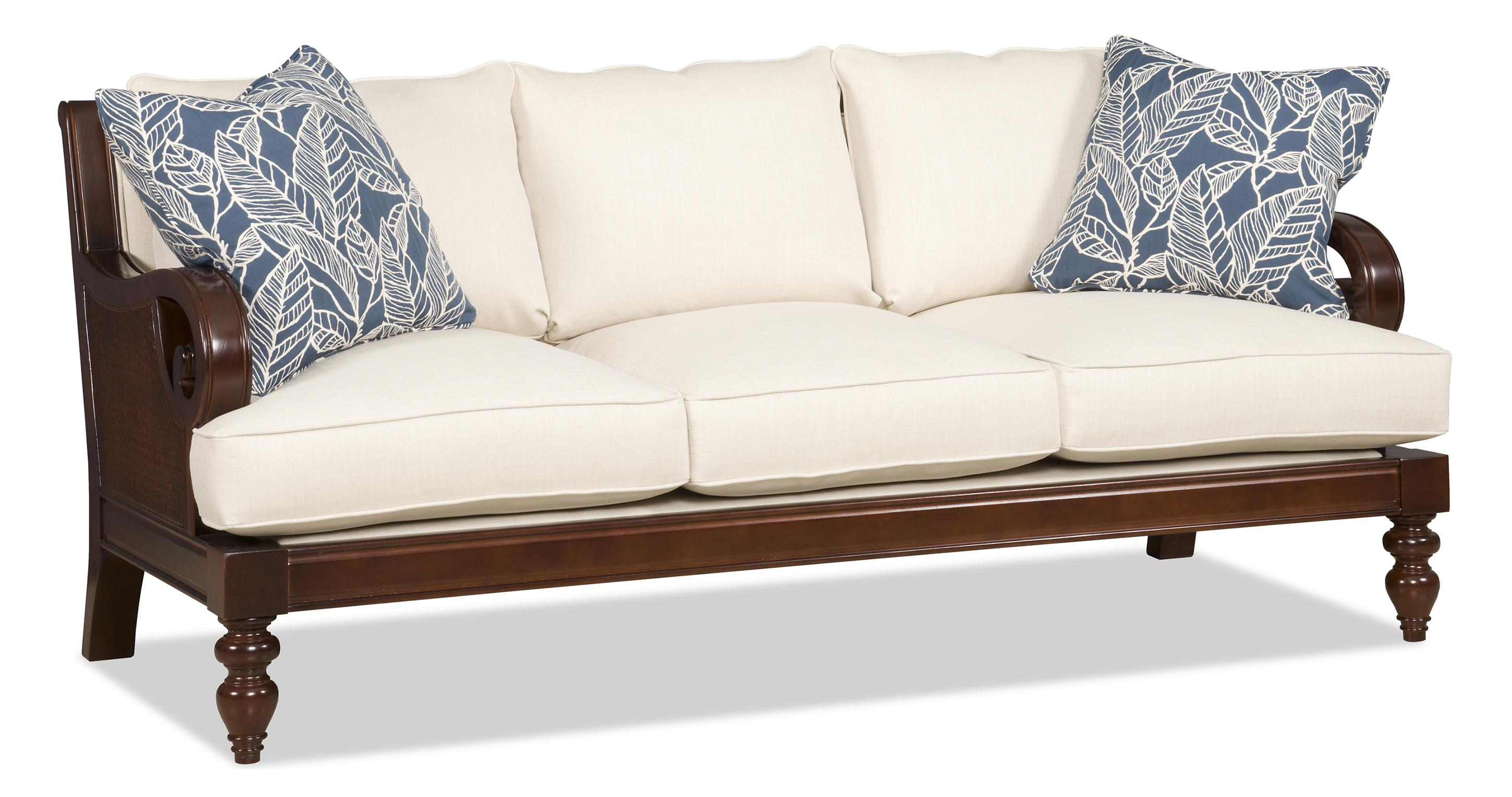Sofa with wood trim wayfair thesofa