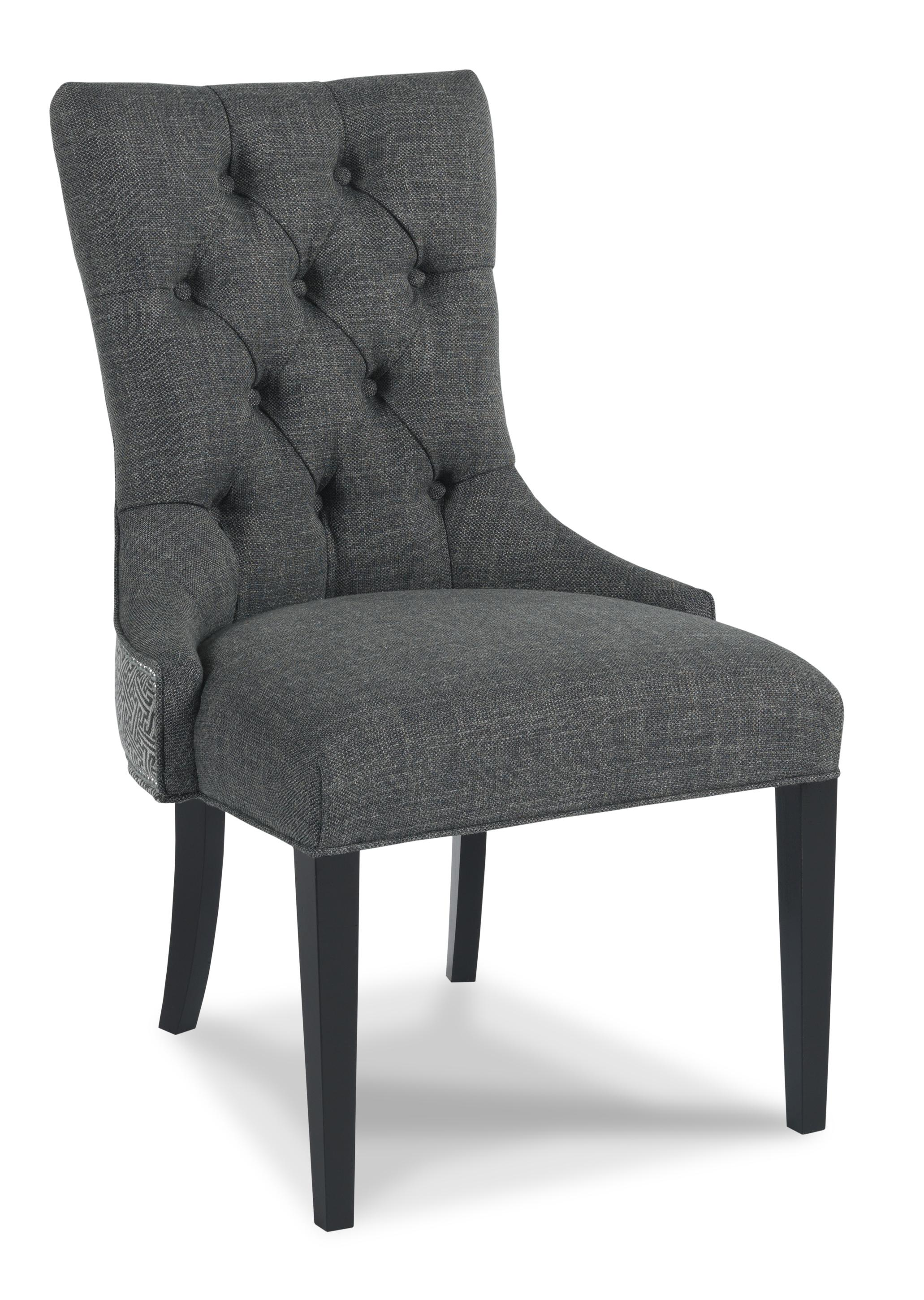 Traditional Upholstered Dining Chairs ~ Sam moore walden traditional upholstered button