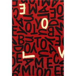 4x7 Letters Area Rug