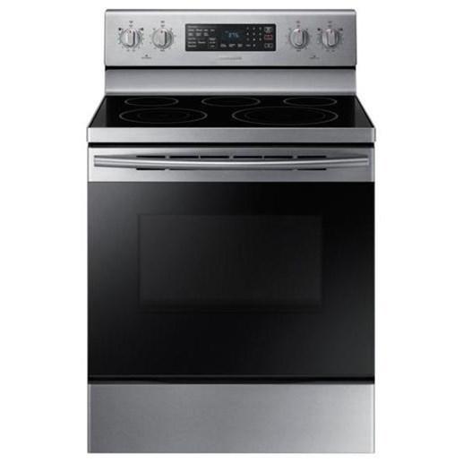 Samsung Appliances Electric Range 5.9 cu. ft. Freestanding Electric Range - Item Number: NE59M4320SS