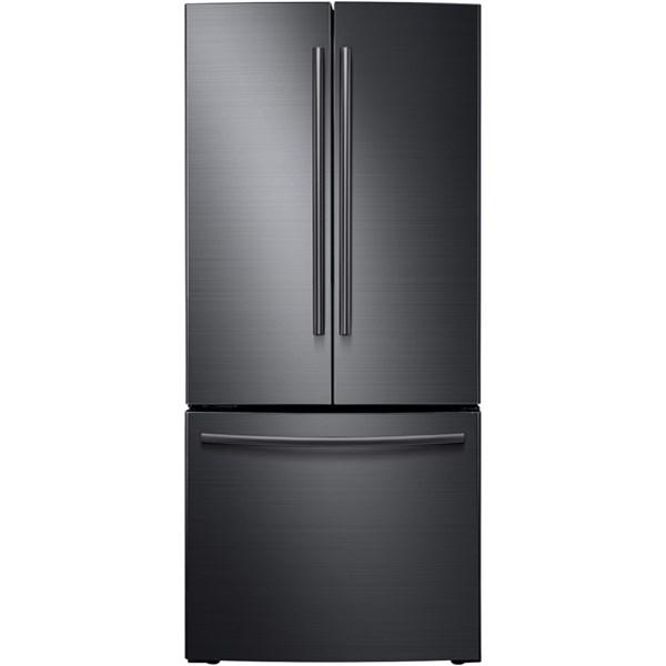 Samsung Appliances French Door Refrigerators 21.6 Cu. Ft. French Door Refrigerator - Item Number: RF220NCTASG