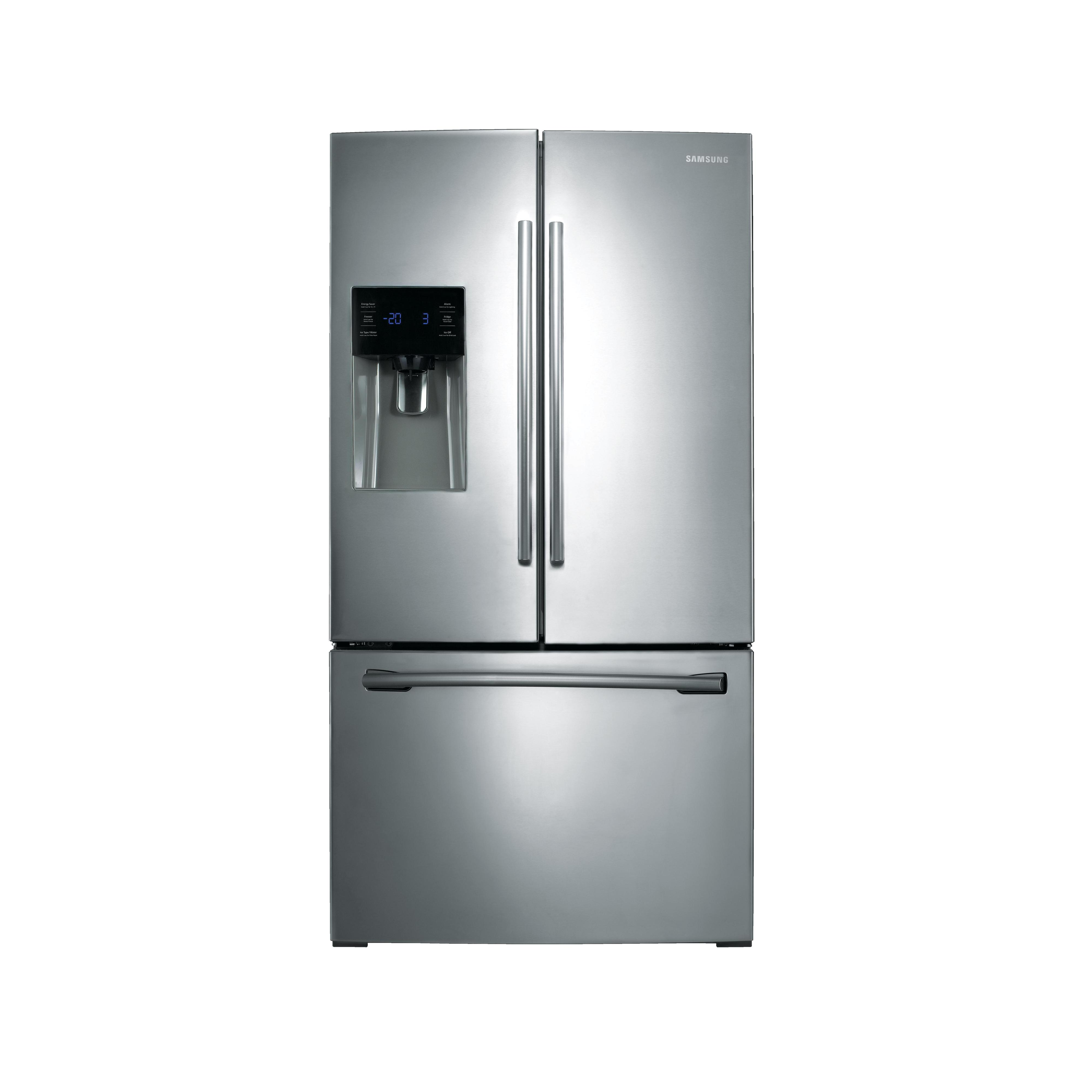 Samsung Appliances 25 cu.ft. French Door Refrigerator with External Water u0026 Ice Dispenser, Dual ...