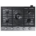 "Samsung Appliances Gas Cooktops - Samsung 30"" Gas Cooktop - Item Number: NA30K6550TS"