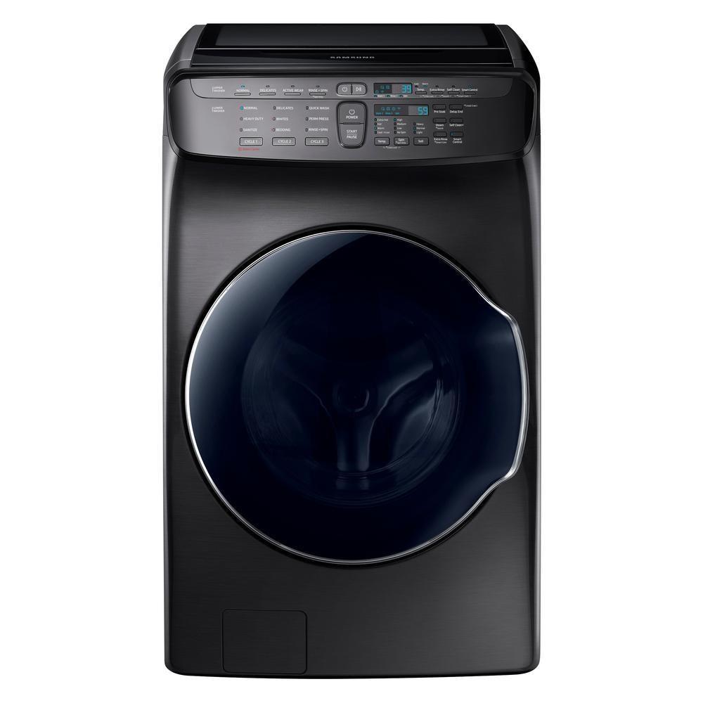 High-Efficiency FlexWash Washer in Black Sta