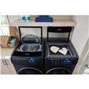 Samsung Appliances Front Load Washers - Samsung High-Efficiency FlexWash Washer in Black Stainless Steel