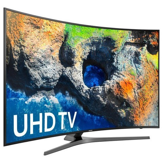"4K UHD TVs - Samsung 2017 55"" Class MU7500 Curved 4K UHD TV by Samsung Electronics at Wilcox Furniture"