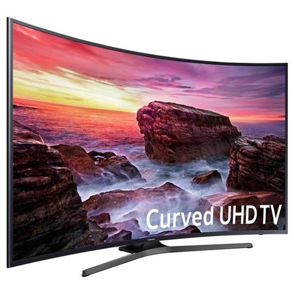 "4K UHD TVs - Samsung 2018 55"" Class MU6490 Curved 4K UHD TV by Samsung Electronics at Wilcox Furniture"