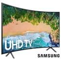 "Samsung Electronics 4K UHD TVs - Samsung 2018 55"" Class NU7300 Curved Smart 4K UHD TV - Item Number: UN55NU7300FXZA"