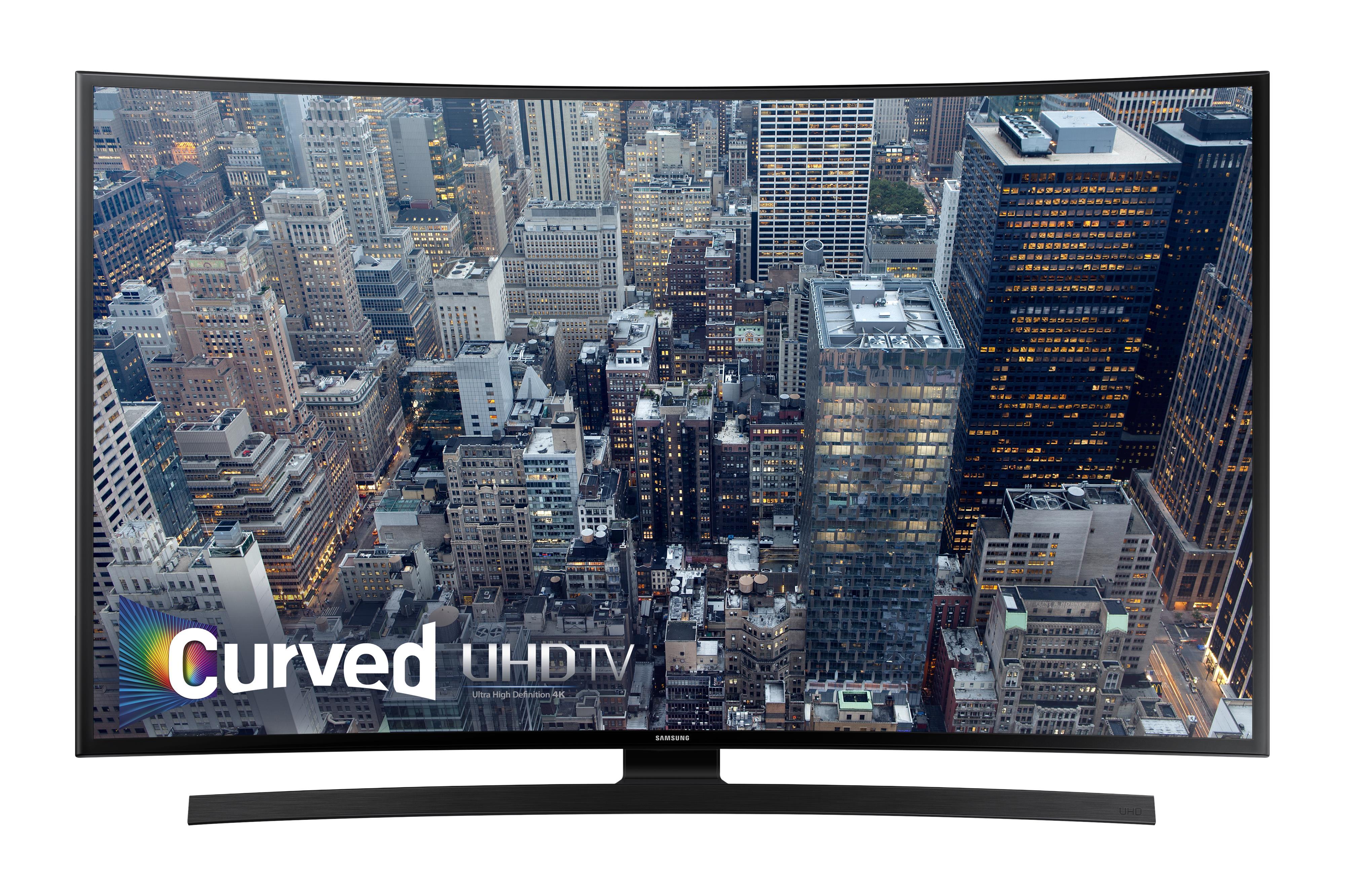 "Samsung Electronics Samsung LED TVs 2015 55"" 4K UHD JU6700 Curved TV - Item Number: UN55JU6700FXZA"