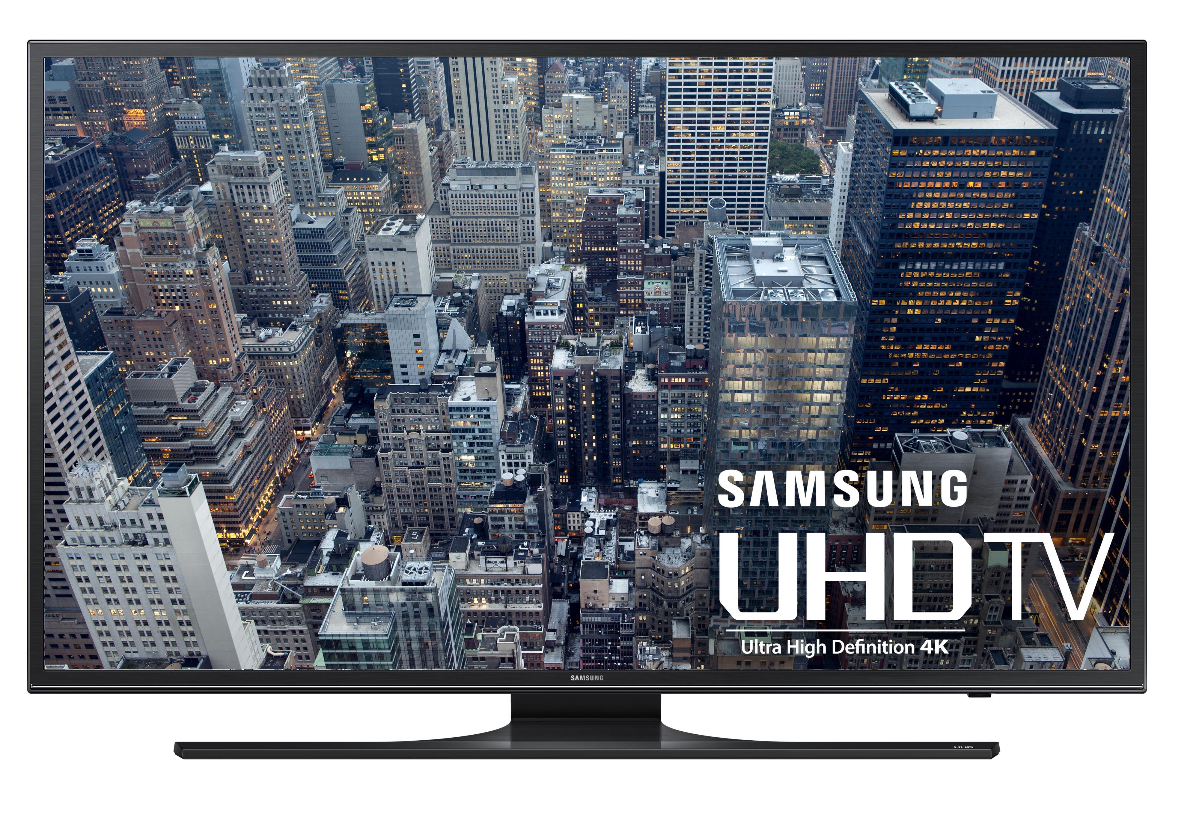"Samsung Electronics Samsung LED TVs 2015 4K UHD JU6500 Series Smart TV - 40"" - Item Number: UN40JU6500FXZA"