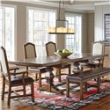 Samuel Lawrence American Attitude Saw Horse Dining Table w/ Cross Hitch Top - Item Number: 8854-131B-3+131A-3