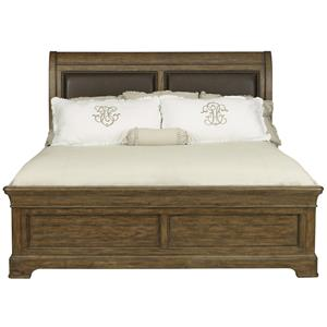 Samuel Lawrence American Attitude Queen Sleigh Upholstered Bed