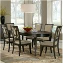 Samuel Lawrence Aura Table and Chair Set - Item Number: 8554-135+6x154