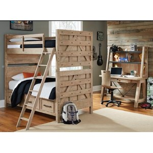 Kidz Gear Adam Twin-Over-Twin Bunk Bed Bedroom Group