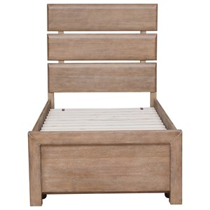 Morris Home Furnishings Asherton Twin Plank Bed