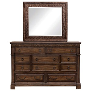 Samuel Lawrence Barcelona Dresser and Mirror Combo