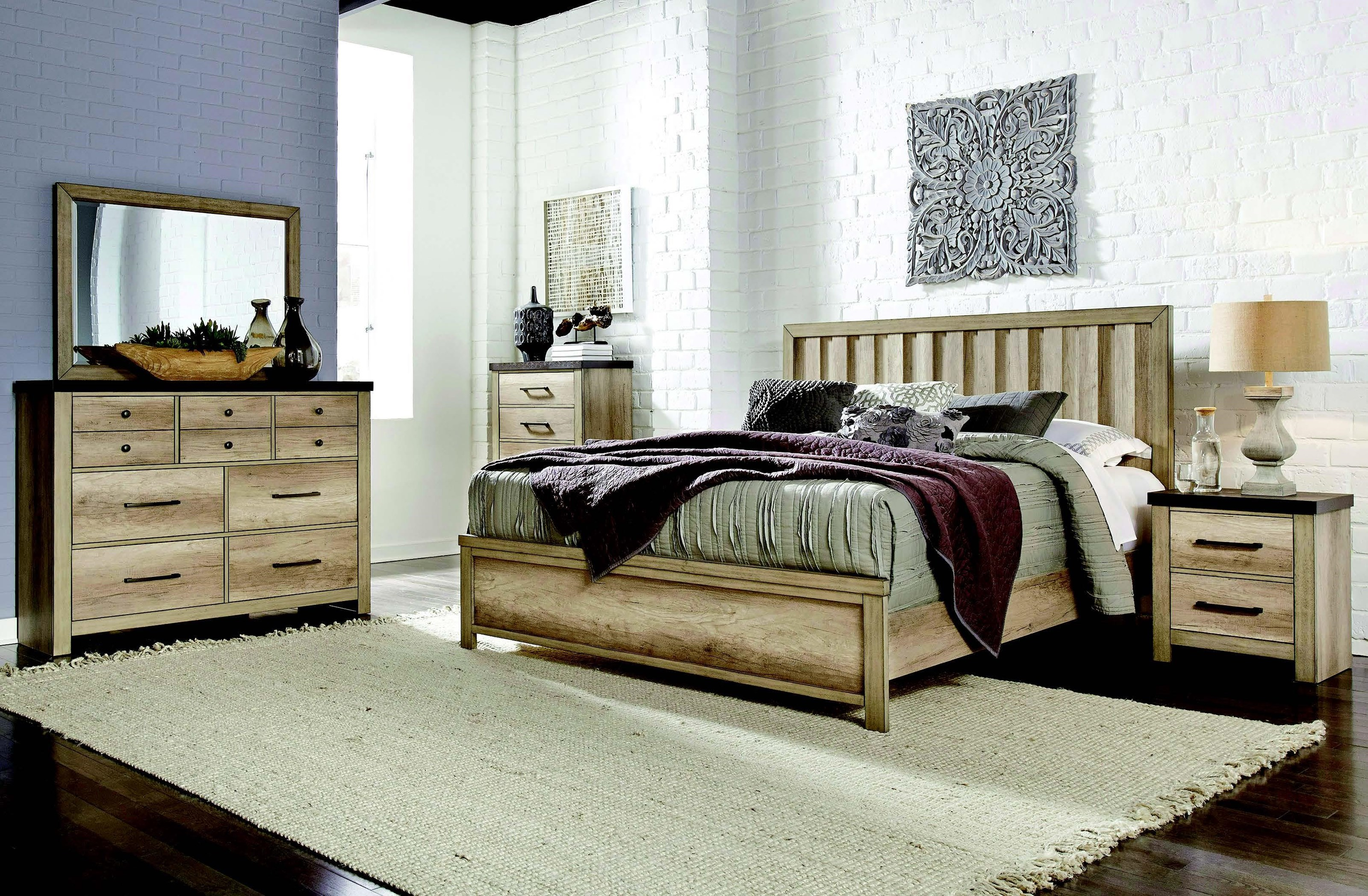 Barnwood Queen Bedroom Group by Samuel Lawrence at Value City Furniture