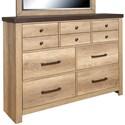 Samuel Lawrence Barnwood 7-Drawer Dresser - Item Number: S534-015