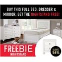 Samuel Lawrence Brit Brit  Full Bed Package with Freebie! - Item Number: 258229518