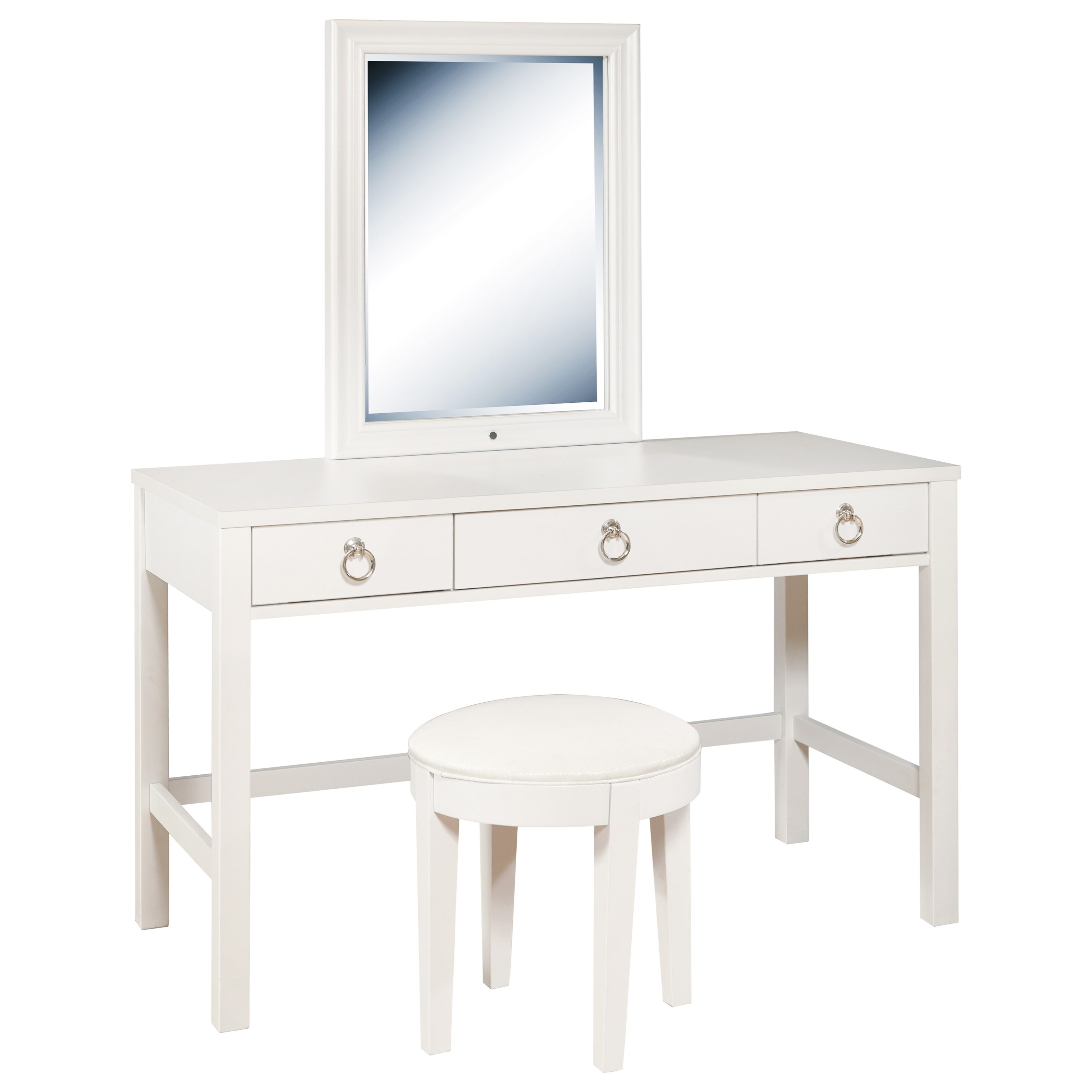 Vanity Desk and Stool Set