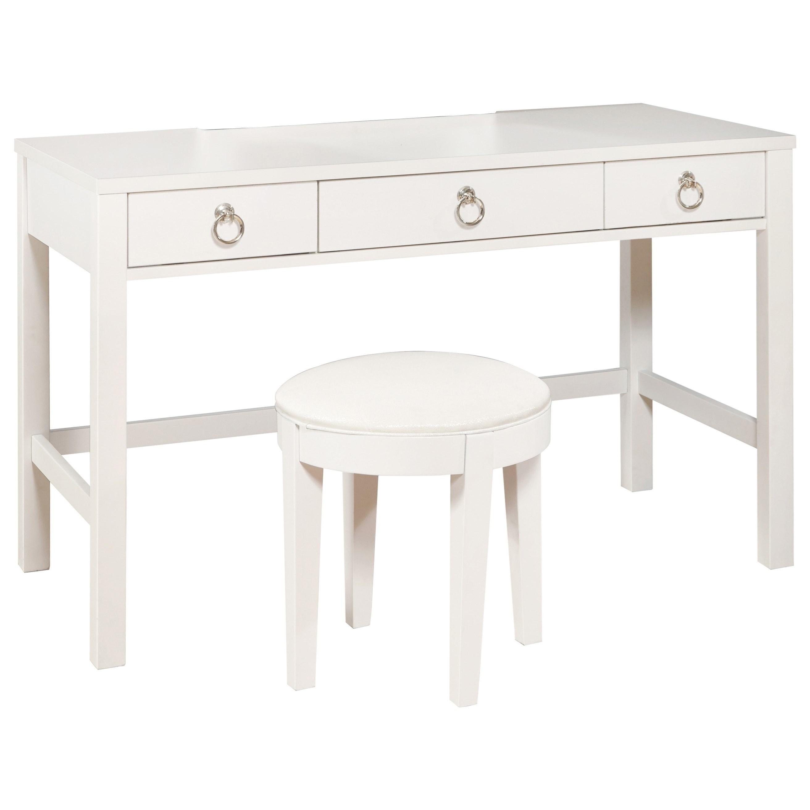 Brit Vanity Desk and Stool Set