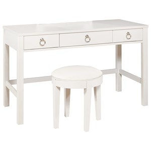 Brit Vanity Desk and Stool Set