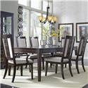 Samuel Lawrence Brighton Dining Table Set - Item Number: 8672-135+2x155+4x154