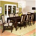 Samuel Lawrence Brighton Dining Table Set - Item Number: 8672-135+2x155+6x154