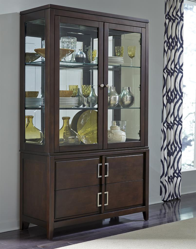 Samuel Lawrence Brighton China Cabinet - Item Number: 8672-141+142