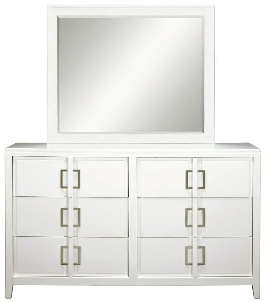 Samuel Lawrence Brighton Dresser & Mirror Set - Item Number: 8673-010+030