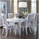 Samuel Lawrence Brighton Dining Table Set - Item Number: 8673-135+2x155+4x154